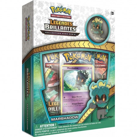 Coffret Pokémon Pins SL 3.5 Légendes Brillantes - Marshadow VF