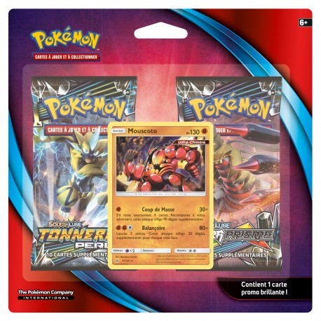 Pack de 2 Boosters Pokémon - Soleil et Lune - Mouscoto