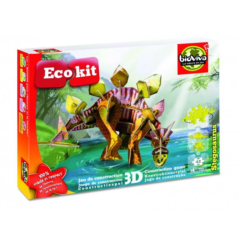ecokit stegosaurus jeux de construction 3d