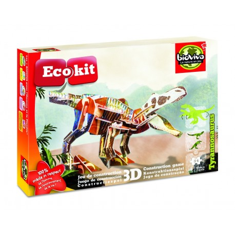 Ecokit - Tyrannosaurus - Jeux de construction 3D