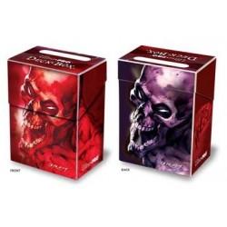 Boite plastique Squelette Hurlant rouge et violet