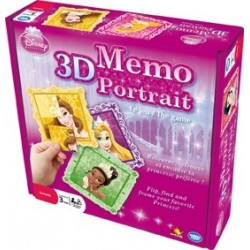3D Memo Portrait Princesses Disney