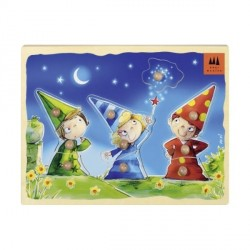 Puzzle encastrement - Trois petits magiciens