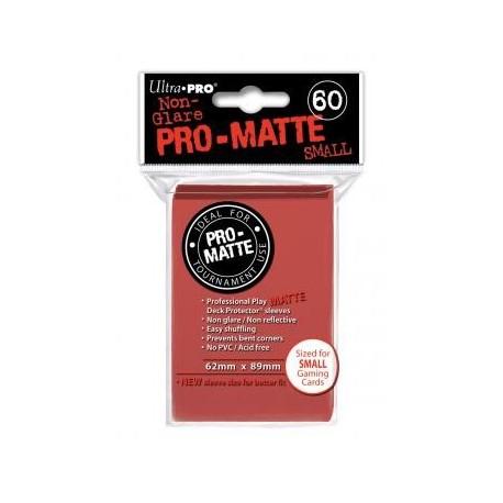 Protège cartes Mat - Rouge - 62 x 89 mm
