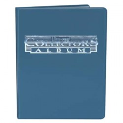 Cahier range-cartes noir - Portfolio A4 - Bleu