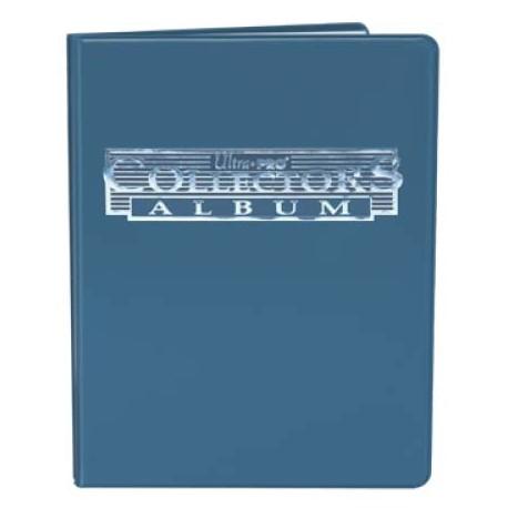 Cahier range-cartes noir - Portfolio A5 - Bleu