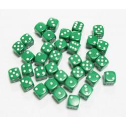 Set de 36 Dés 6 - Opaque Vert
