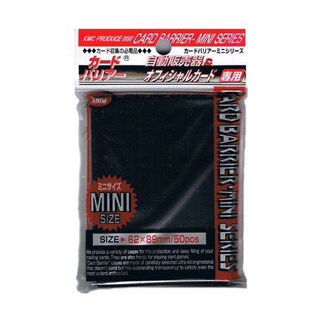 Protège Cartes - Mini - Super Black Sleeves - 62 x 89