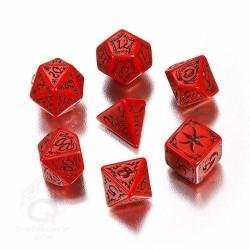 Set de Dés - TRIBAL - Red/Black
