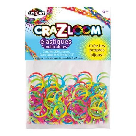 Kit de recharge 200 élastiques Multicolores