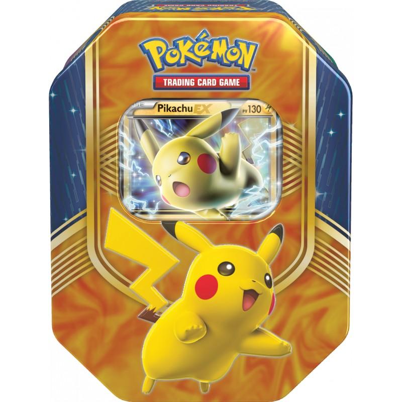 pokebox bo te m tal no l 2016 pokemon pikachu ex. Black Bedroom Furniture Sets. Home Design Ideas