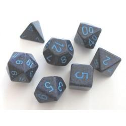 Set de 7 dés - Granité - Cobalt