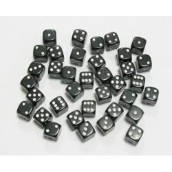 Set de 36 Dés 6 - Opaque Noir