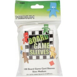 Board Game Sleeves x 100 - Medium 57 x 89 mm