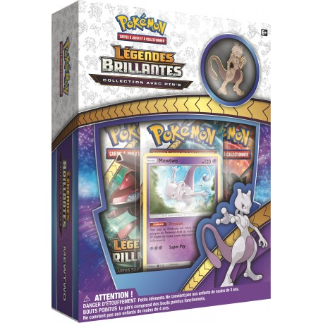 Coffret Pokémon Pins SL 3.5 Légendes Brillantes - Mewtwo VF