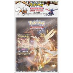 Pack Pokémon Soleil et Lune 6 - Cahier range-cartes + Booster