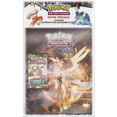 Pack Pokémon Soleil et Lune 7 - Cahier range-cartes + Booster